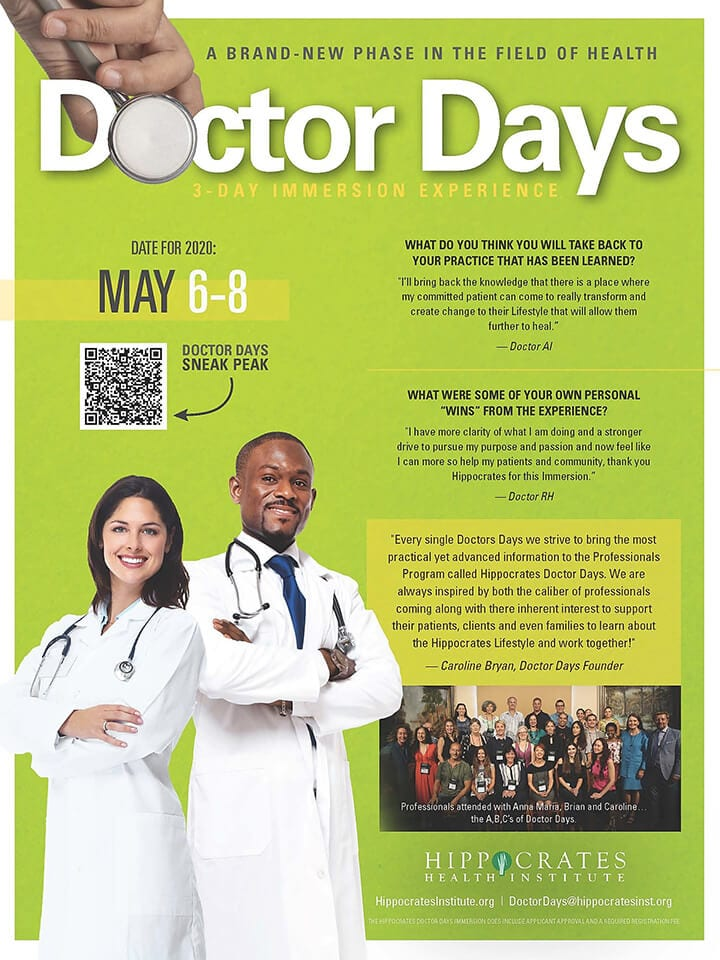 CAROLINE CEA BRYAN DOCTOR DAYS PROGRAM HIPPOCRATES HEALTH INSTITUTE CEA ONE 720